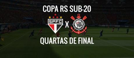 Copa RS: São Paulo x Corinthians ao vivo (arte: Diogo Marcondes)