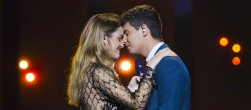 Actuación de Amaia y Alfred en la primera semifinal de Eurovisión 2018. / RTVE.es