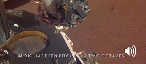 Catturato il suono del vento di Marte.