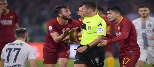 Continuano le polemiche per l'arbitraggio di Rocchi in Roma-Inter