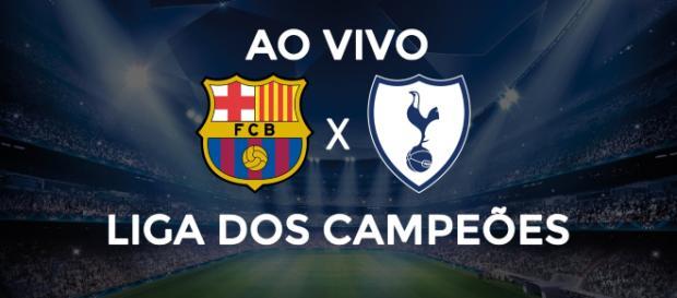 Barcelona x Tottenham ao vivo hoje. (Reprodução).