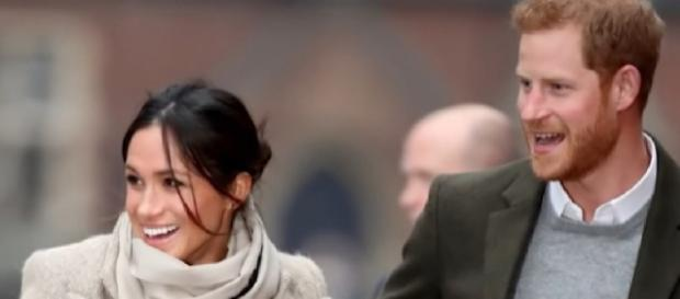 Meghan Markle joins Prince Harry for a powerful Christmas Carol service. [Image source/Access YouTube video]