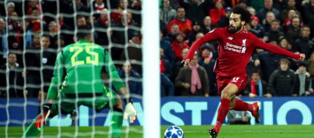 Salah metió el gol de la calificación en el primer tiempo. www.stadiumastro.com
