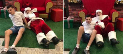A atitude do Papai Noel ocorreu no Shopping Itaguaçu, em Florianópolis (Reprodução/Facebook)