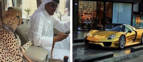 Carros banhados a ouro e pessoas ostentando animais exóticos, são algumas coisas que acontecem em Dubai. (Reprodução)