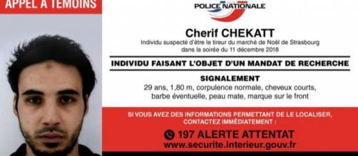 Cherif Chekatt, tueur présumé de l'attaque de Strasbourg