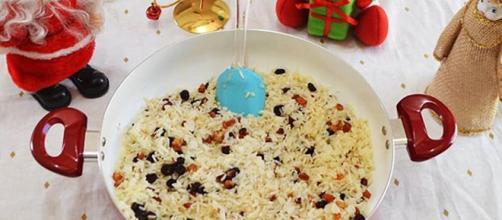 O tradicional arroz não pode faltar na ceia natalina (Reprodução: Instagram)