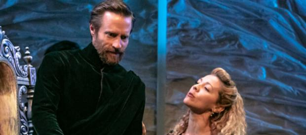 The royal couple, King Leontes of Sicilia and Queen Hermione (Jon Barker, Erin Partin). - [Image by Jerry Dalia, STNJ]