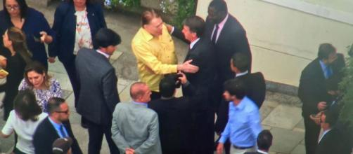 Apresentador ofereceu um almoço ao presidente eleito (Crédito: José Afonso/TV Globo)