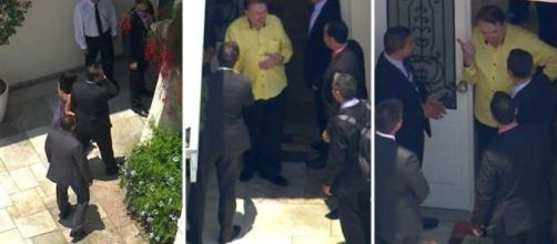 Globo flagra encontro por via aérea. (Imagem Reprodução/TV Globo)
