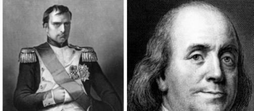 Napoleão Bonaparte e Benjamin Franklin (Foto/Repodução)