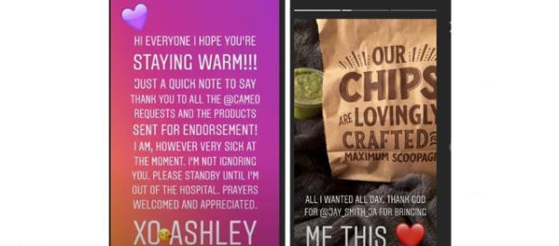 90 day Fiance Ashley marston says in Instagram story that she's sick in hospital. - Image credits - ashleye_90   Instagram
