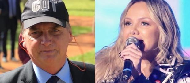 A apresentadora Eliana e o presidente eleito Jair Bolsonaro. (Reprodução/TV Foco)