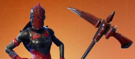 Nuova skin per il cavaliere rosso di Fortnite