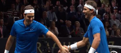 Federer and Nadal will team up for a second time at the Laver Cup. Photo: screencap via Laver Cup/YouTube