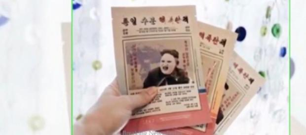 Kim Jong-un facial mask stirs controversy. [Image source/ Breaking News Today YouTube video]