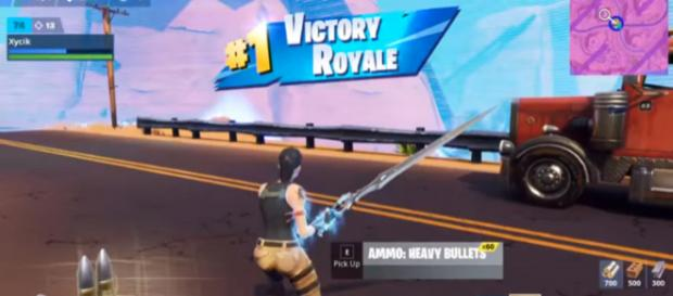 Slashed his way to victory. [Image source: Fortnite Cookies/YouTube]