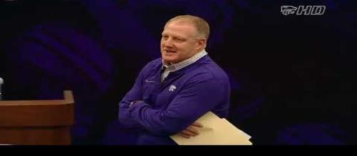 Kansas State football coach. - [K State Sports / YouTube screencap