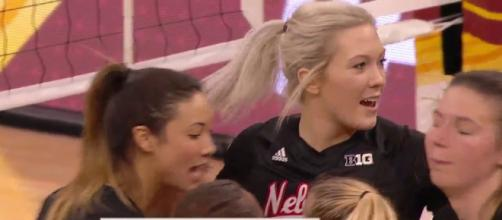 Nebraska's volleyball match had an ugly ending [holyages / YouTube screencap]