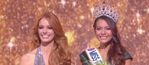 Vaimalama Chaves, a sinistra, incoronata Miss Francia