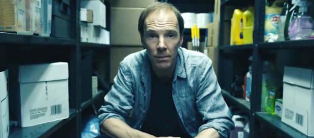 """Firm Remainer Benedict Cumberbatch plays a balding Dominic Cummings, Leave campaign manager in """"Brexit."""" [Image HBO/YouTube]"""