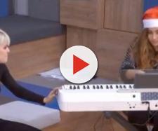 Alba Reche, en el momento de su queja, hablando con Julia. / YouTube