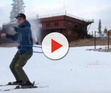 First Snow of the 2018-19 Season. [Image source/Sierra-at-Tahoe YouTube video]