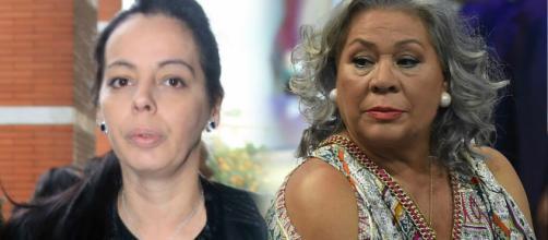 Carmen Gahona expulsa a gritos a la amante de Chiquetete del tanatorio