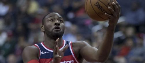 John Wall's 40-point game helped the Wizards defeat the Lakers. [Image via NBA/YouTube screencap]