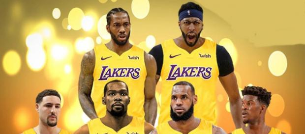 Los Angeles Lakers dream lineup - Image by Fadeaway World / Instagram