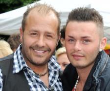 Willi Herren mit seinem Sohn Stefano