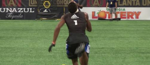 Josh Downs could be a Husker soon [Image via Rivals Camp Series/YouTube]