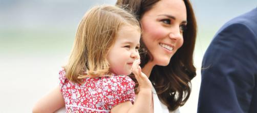 Kate Middleton assieme alla figlia Charlotte