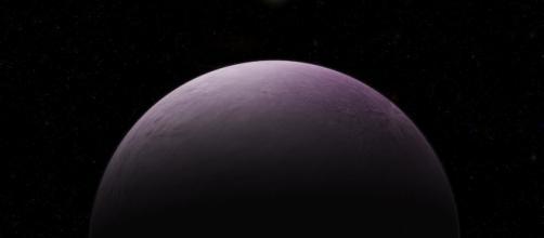 """Un'illustrazione del nuovo pianeta nano 2018 VG18, soprannominato """"Farout"""" (Credit: Roberto Molar Candanosa / Carnegie Institution for Science.)"""