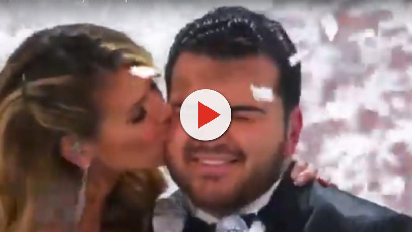 Heidi Klum takes another holiday spill for Sal Valentinetti on AGT special