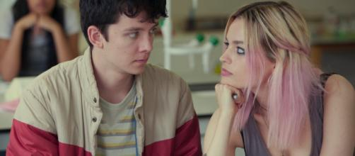 Asa Butterfield and Emma Mackey in 'Sex Education.' - [Netflix]