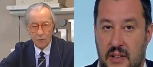 Vittorio Feltri arrabbiato con Matteo Salvini