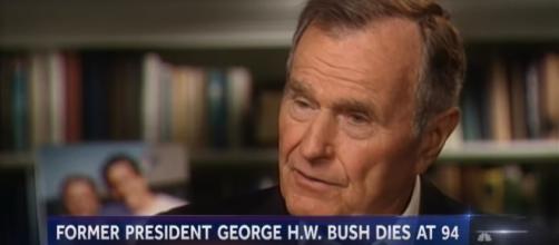 Former President George H.W. Bush dies at 94. [Image Credit] NBC News - YouTube