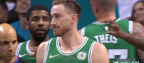 Gordon Hayward propelled the Boston Celtics to a big win over the Timberwolves on Saturday night. [Image via NBA/YouTube]