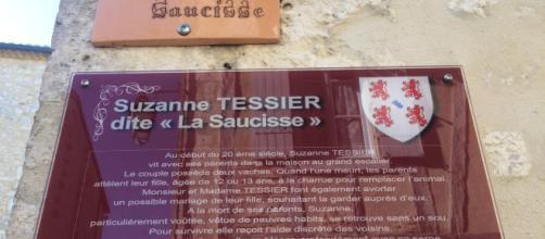 """La nouvelle plaque de la """"rue de la saucisse"""""""