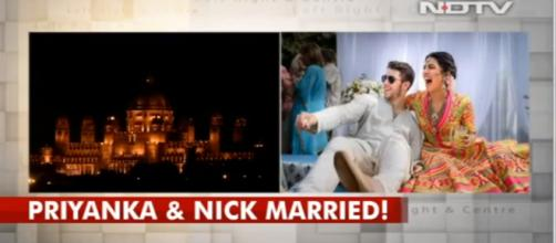 Marriage photo of Priyanka and Nick-(Image credit You tube-NDTV channel)