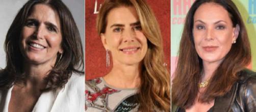 Malu, Maitê e Carolina atuaram por anos na TV Globo (Fotomontagem)