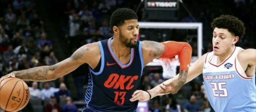 Paul George scored 47 points in a Thunder win on Wednesday (Dec. 19). [Image via NBA/YouTube screencap]