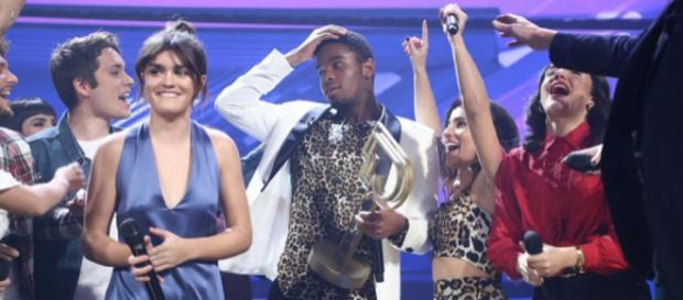 Amaia y Famous, en la gala final de 'OT 2018'.