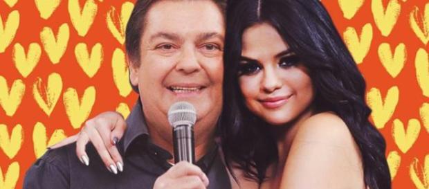 Relacionamento fictício entre Faustão e Selena bombou nas redes sociais. (Foto Reprodução).