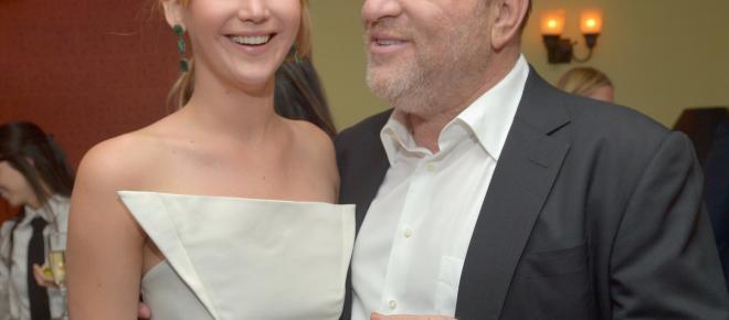 Jennifer Lawrence niega haber estado con Harvey Weinstein