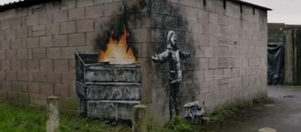 Banksy has claimed a wall painting in Wales as his own work. [Image @Banksy/Instagram]