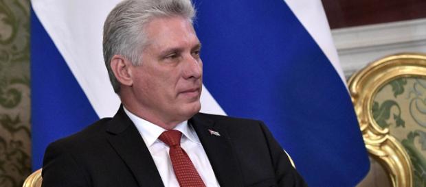 O presidente cubano Miguel Díaz-Canel. (Foto: Imprensa Presidencial da Rússia)