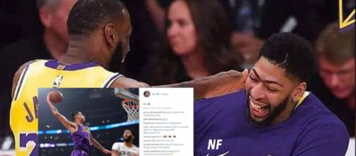 Anthony Davis jokes with Kuz and LeBron on IG like they are teammates already [Image by nfcomtr / Instagram]