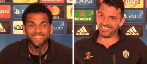 Dani Alvez e Buffon (Imagem via Youtube)